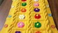 Bebekler için şahane örgü battaniyeler