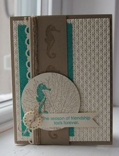 by Heather Summers, Stamp with Heather; this sentiment would be nice on an autumn/fall card.