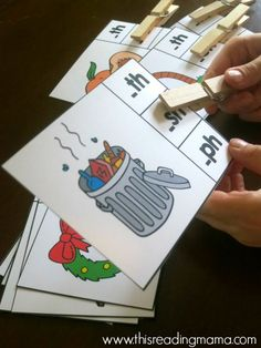 Ending Digraph Clip Cards