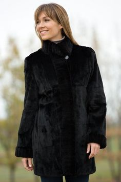 Women`s Celine Reversible Mink Fur Coat