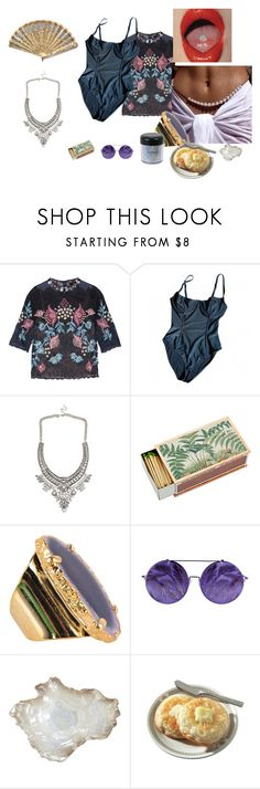 """The Shining"" by teodora-teddy ❤ liked on Polyvore featuring Biyan, American Apparel, Shandell's, Valerie Nahmani Designs, Linda Farrow, MAC Cosmetics and Pier 1 Imports"