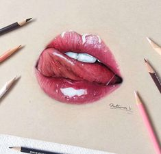 """783 Likes, 201 Comments - K a t ♡ (@k.artsbeauty) on Instagram: """"New lip drawing inspired by @nastia.jpg  Took me about 2hrs. This was a collab w/ the BF…"""""""
