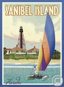 Sanibel Island -Vintage Art Deco