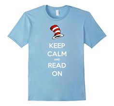 29fd2c6c Read Across America Day Shirt - Keep Calm and Read On - Male Small - Baby  Blue Read Across America Day Shirt