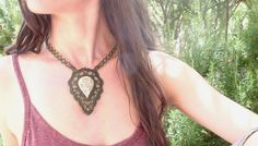 The power of nature in the old fosil stone  from Mexico!! Macrame & braa!!