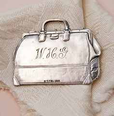 Victorian Sterling Silver Luggage Tag available for purchase from Paris Hotel Boutique
