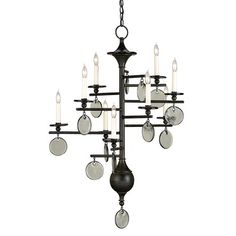 Sethos Small Chandelier | Currey and Company at Lightology