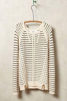 Crosswire striped pullover