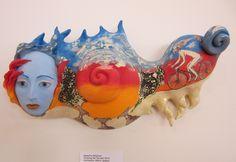 Natasha Dikareva, Chasing the Sunset, stoneware, stains, glazes