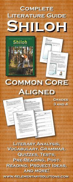 Shiloh Common Core Aligned Literature Guide for Grades 3 and 4