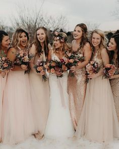 """6,614 Likes, 106 Comments - Wedding Day Ready (@weddingdayready) on Instagram: """"How gorgeous are these girls? We love the beautiful bridesmaids gowns  This #dresses definitely…"""""""