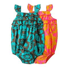 Carter's Floral Ruffled Sunsuit - Baby