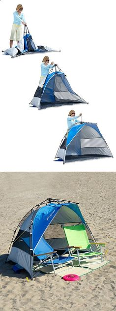 Quick pull up outdoor tent // Pops up in seconds with the clever drawstring! Perfect for the beach... #product_design