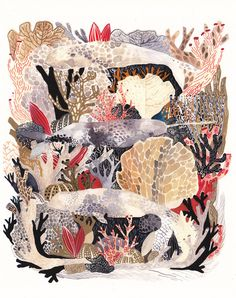 Deep Sea Archival Print by  Michelle Morin