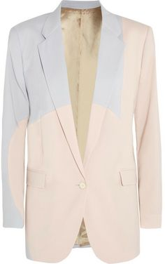 Acne Seymour two-tone stretch-wool blazer on shopstyle.com