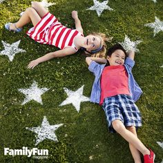 A Star-Spangled Yard: Give your lawn some flour power this Fourth of July with a simple stencil and a dusting of flour.