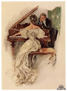 by Harrison Fisher - the first illustrator of Cosmopolitan magazine