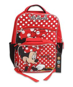 Look at this #zulilyfind! Red Minnie Mouse Backpack & Lunch Bag #zulilyfinds