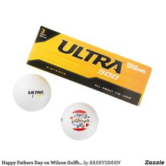 Happy Fathers Day on Wilson Golfballs Golf Balls