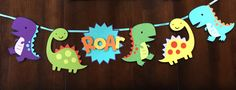 Dinosaur Banner by FirstBlushPaper on Etsy