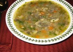 Mushroom-barley soup #Vegan #RoshHashanah #recipe