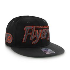 #Philadelphia #Flyers Retroscript Black Snapback Hat from Shibe Vintage Sports #Flyers