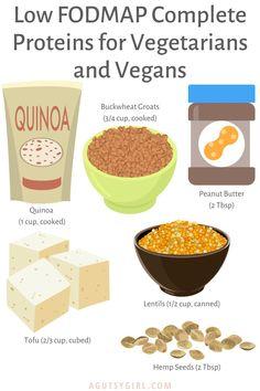 6 Low FODMAP Complete Proteins for Vegetarians and Vegans agutsygirl.com #lowfodmap #sibo #veganfood