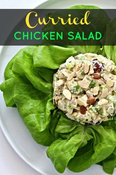 Celebrate the start of spring with my Curried Chicken Salad using FAGE Total plain Greek yogurt. It's the perfect light and healthy dish! Healthy Dishes, Healthy Salads, Healthy Eating, Simple Salads, Healthy Lunches, Healthy Food, Clean Eating Recipes, Lunch Recipes, Healthy Dinner Recipes