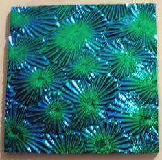 Thin Black Magenta Green 'Florentine' Textured 90 COE Dichroic Glass - Nice! #Wissmach
