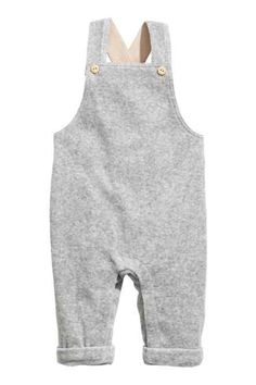 Bib overalls in organic cotton velour. Suspenders with adjustable fasteners, elastication at back of waist, and sewn cuffs at hems Baby Boy Overalls, Bib Overalls, Baby Girl Dresses, Baby Boy Outfits, Kids Outfits, Baby Clothes Patterns, Clothing Patterns, Baby Boy Fashion, Kids Fashion