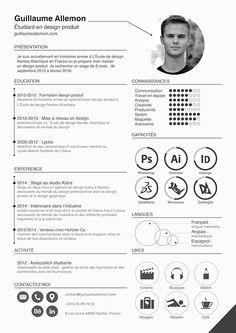 Graphic Design Resume, Letterhead Design, Cv Design, Student Resume Template, Resume Design Template, Resume Templates, Portfolio Web, Portfolio Design, Modelo Curriculum
