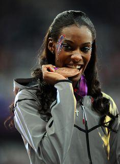 Dee Dee Trotter wins Bronze in Women's 400m Track!