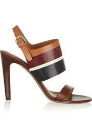 ChloéColor-block leather sandals