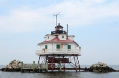 Thomas Point Shoal Lighthouse, Chesapeake Bay, MD; the sole screwpile lighthouse still standing in its original location, built 1875