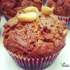 Peanut Butter Muffins | http://www.flexiblevegan.com/ | #peanut #butter #muffins #dairyfree