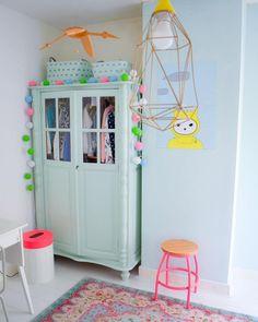 light aqua green wardrobe for kids bedroom Baby Bedroom, Girls Bedroom, Baby Rooms, Nursery Decor, Room Decor, Little Girl Rooms, Fashion Room, Kid Spaces, Kids Decor