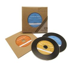 The Container Store > Vintage Record CD Sleeves & Labels