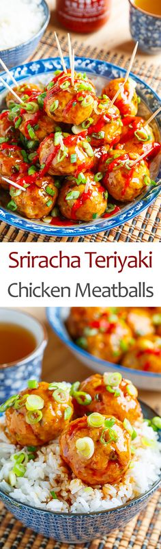 Sriracha Teriyaki Chicken Meatballs