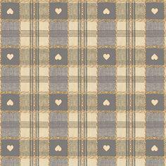 Grey Hearts PVC Fabric