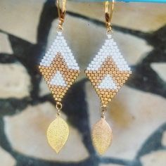 Discover recipes, home ideas, style inspiration and other ideas to try. Jewelry Design Earrings, Seed Bead Jewelry, Seed Bead Earrings, Beaded Earrings, Beaded Jewelry, Jewellery, Loom Beading, Beading Patterns, Miyuki Beads