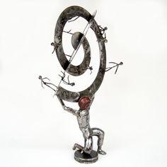 Contemporary modern metal art sculptures from Greece by Artyianni Atlas Sculpture, Modern Art Sculpture, Metal Artwork, Cool Artwork, Amazing Artwork, Sculptures For Sale, Greek Art, Buy Art Online, Tat