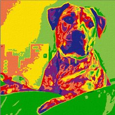 """Personalized Paint by Number: 8x8 Mini Kit. """"Dog Gone Artsy"""""""