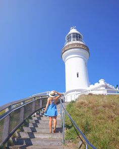 The climb up to Byron Bay lighthouse is worth each and step - with beach views, ocean views, a truck load of beauty, and this masterpiece at the top! Ocean Views, Byron Bay, Beach Pictures, Designs To Draw, Lighthouse, Travel Photos, Climbing, Truck, Louvre