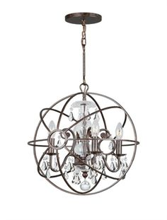 Show details for Crystorama Lighting 9025-EB-CL-MWP Mini Chandeliers Solaris