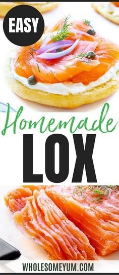 Learn how to make lox at home, with simple ingredients! This easy salmon lox recipe tastes perfectly salty, buttery, and smooth. It makes the best bagel and lox. #wholesomeyum Ketogenic Recipes, Low Carb Recipes, Real Food Recipes, Keto Diet For Beginners, Recipes For Beginners, Lox Recipe, Recipe With 10 Ingredients, Salmon Lox, Best Bagels