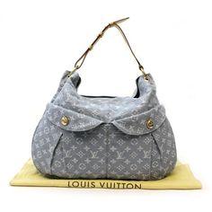 Louis Vuitton Daily GM Monogram Denim Shoulder bags Blue Denim M40492