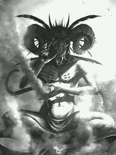 I'm not obsessed by Baphomet I'm obsessed by light and shadow composition Dark Fantasy Art, Dark Art, Baphomet, Arte Horror, Horror Art, Disney Horror, Gravure Photo, Creepy, Satanic Art