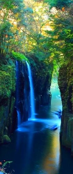 beautiful waterfall.