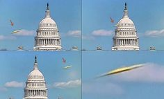 UFO flies in front of the Capitol Building in Washington live on Fox News |UFO Sightings Hotspot