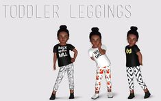 My Sims 3 Blog: Toddler Leggings by DoeSims